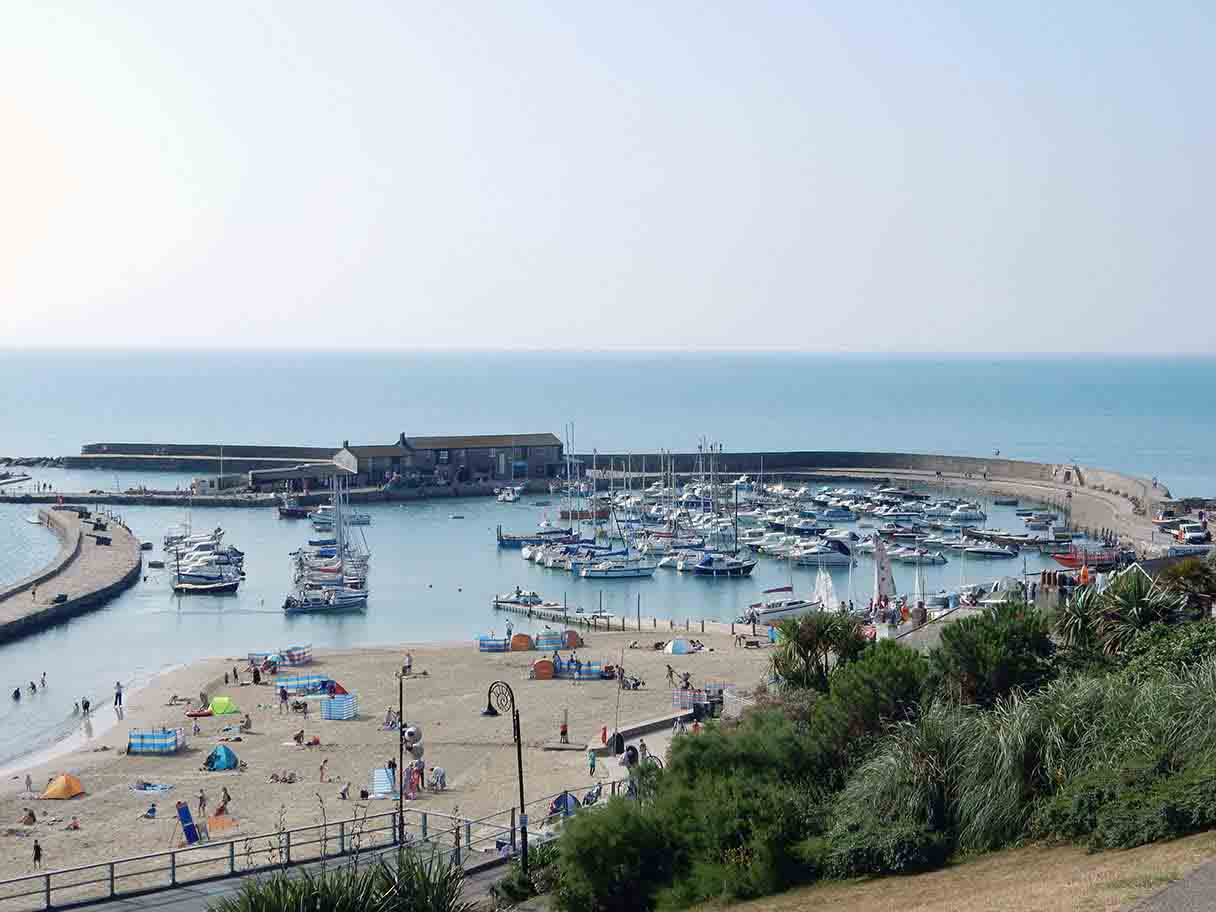 Lyme Regis Harbour and Sandy Beach